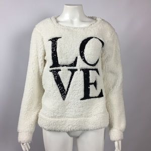 "Soft Fleece Sequins ""LOVE"" New Medium"